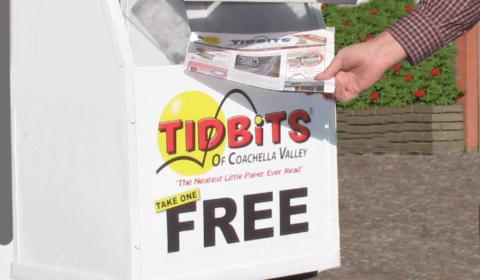 Tidbits street newsstand.