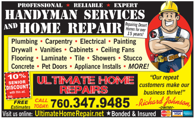 Ultimate Home Repairs - Business Card Ad